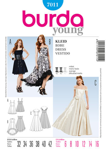 Burda Style Pattern 7011 Dress