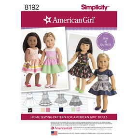 "Pattern 8192 American Girl Doll Clothes for 18"" Doll"