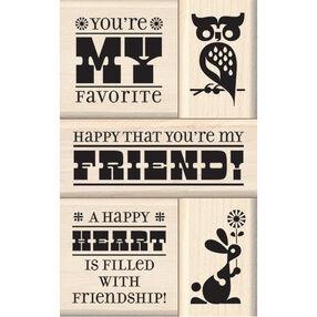 Friend Wood Stamp Set_60-10126