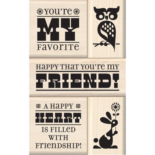 Friend Wood Stamp Set_60-10126