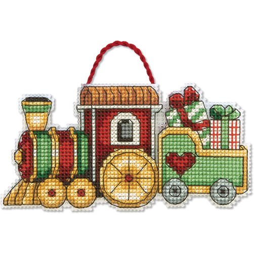 Train Ornament, Counted Cross Stitch_70-08897
