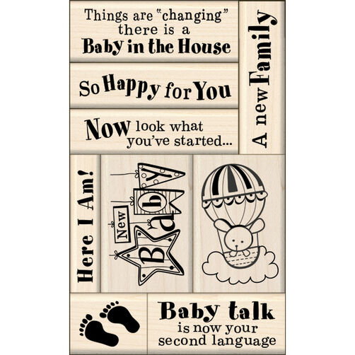 Baby Card Making Wood Stamps_60-10117