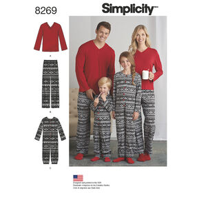 Simplicity Pattern 8269 Child's Jumpsuit, Teens' and Adults' Pants and Knit Top