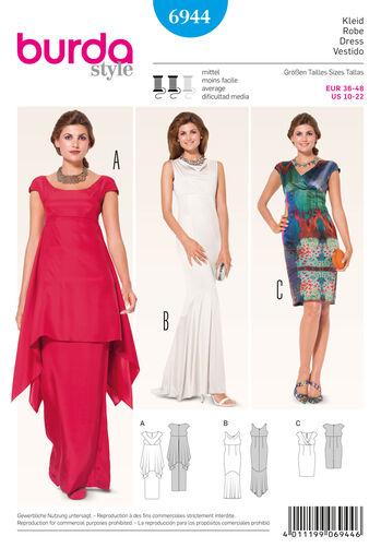 Burda Style Pattern 6944 Evening & Bridal Wear