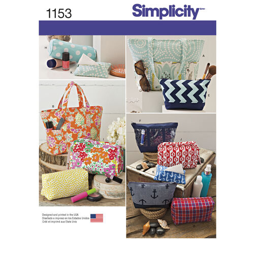 Simplicity Pattern 1153 Accessory Bags in Various Sizes