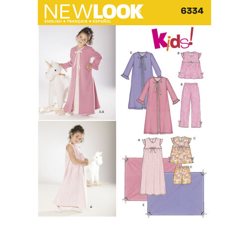 New Look Pattern 6334 Child's Sleepwear