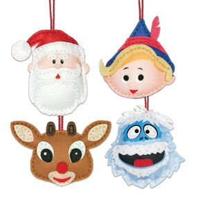 Rudolph Ornaments, Felt Appliqué_72-08285