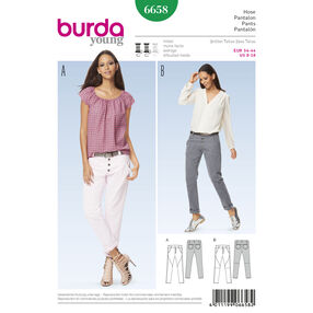 Burda Style Pattern 6658 Misses' Pants