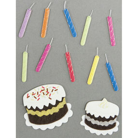 Birthday Candle and Cake Embellishments_50-00447