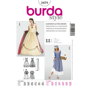 Burda Style Pattern 2479 Empress & Washerwoman