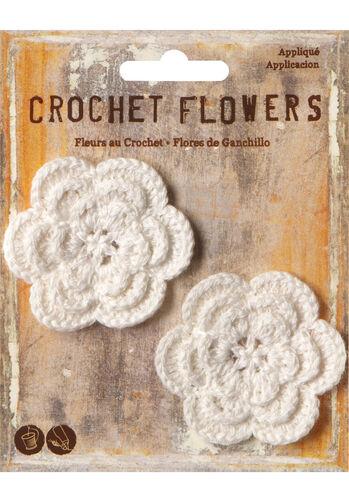 """2"""" Crochet Flower Appliques, 2pcs"""