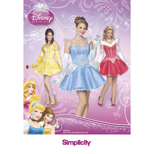 Simplicity Pattern 1553 Disney Princess Costumes for Misses