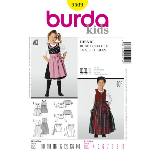 Burda Style Pattern 9509 Dirndl Dress