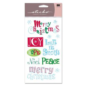 Merry Christmas Clear Classic Stickers_SPSG136