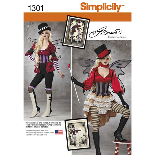 Simplicity Pattern 1301 Misses' Victorian Circus Costumes