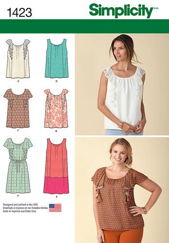 Misses' Mini Dress or Top