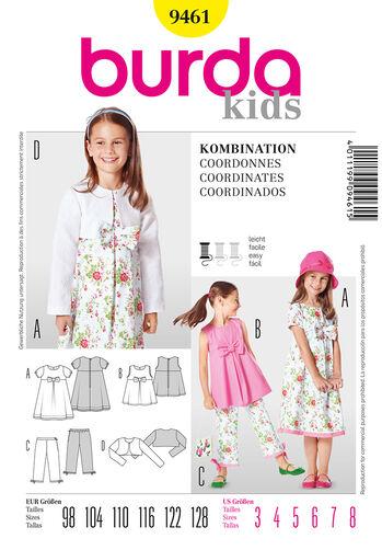 Burda Style Pattern 9461 Coordinates