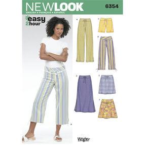 New Look Pattern 6354 Misses Pants