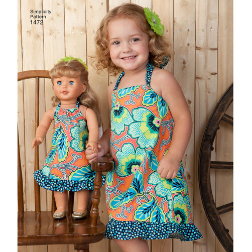 For toddler s sportswear with matching 18 quot doll dress simplicity