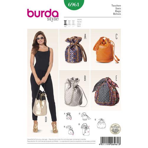 Burda Style Pattern 6961 Drawstring Bags