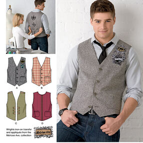 Simplicity Pattern 2346 Men's Vests