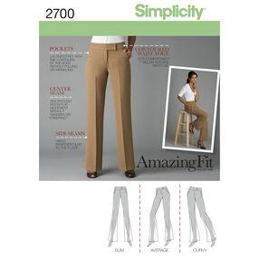 Simplicity Pattern 2700 Misses' & Misses' Petite Pants