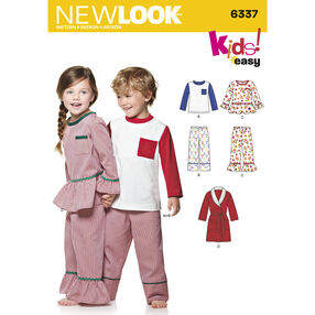 New Look Pattern 6337 Child's Easy Top, Pants, Robe and Knit Top