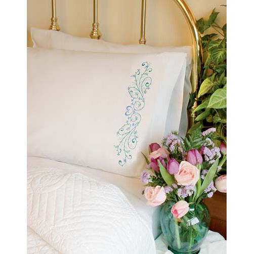 Filigree Scroll Pillow Cases, Embroidery_73202