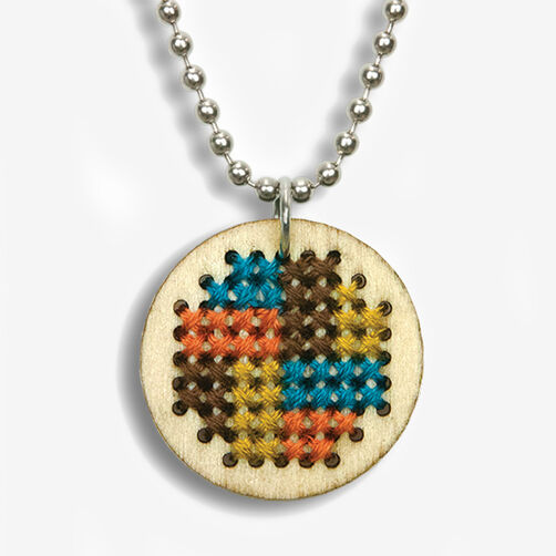 Small Pattern Pendant Counted Cross Stitch Kit_72-74071