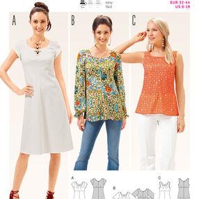 B6685 Women's Dress and  Blouse