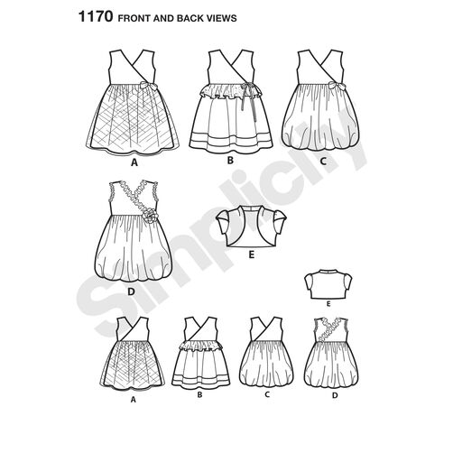 Pattern for Toddlers' Dress with Knit Bodice and Bolero