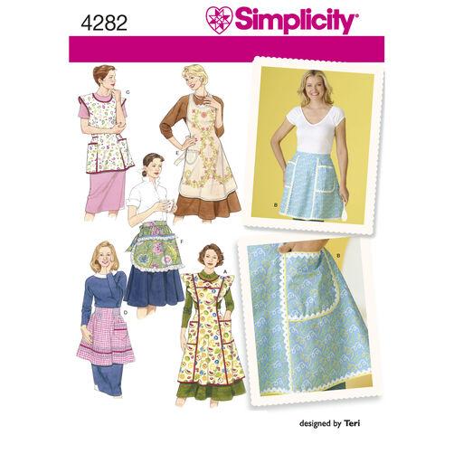 Simplicity Pattern 4282 Misses' Vintage Aprons