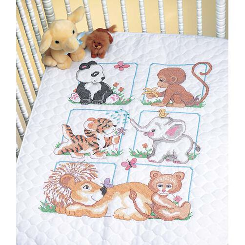 Animal Babes Quilt, Stamped Cross Stitch_13083