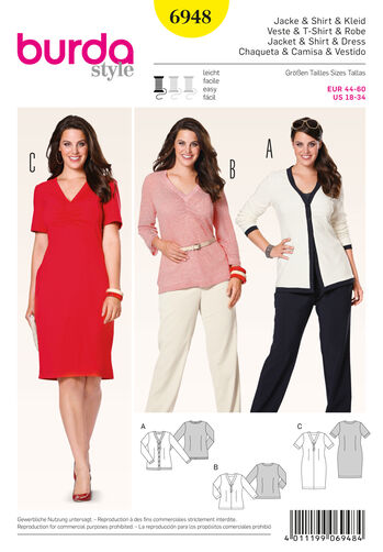 Burda Style Pattern 6948 Plus to size 60