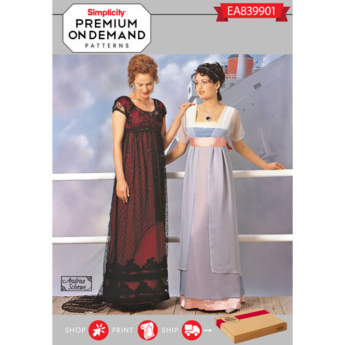 Simplicity pattern ea839901 premium print on demand misses for Premium on demand