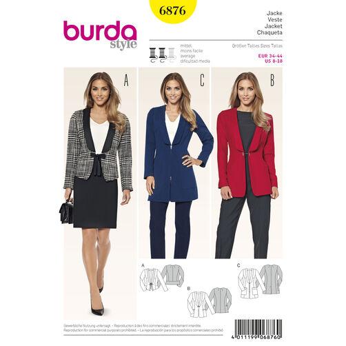 Burda Style Pattern 6876 Jackets, Coats, Vests