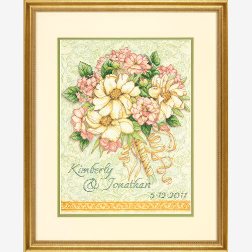 Wedding Record Bouquet, Counted Cross Stitch_70-35275