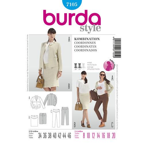 Burda Style Pattern 7105 Coordinates
