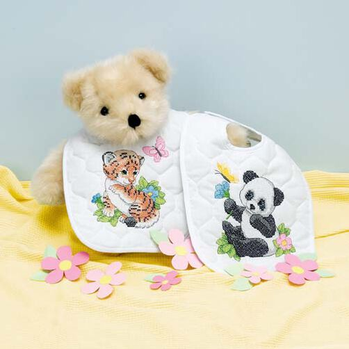 Baby Animals Bibs, Stamped Cross Stitch_73066