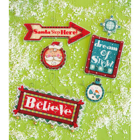 Whimsical Signs Ornaments, Counted Cross Stitch_70-08953