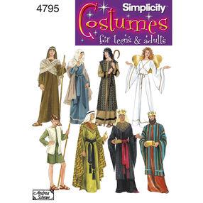 Simplicity Pattern 4795 Misses', Men's & Teen's Costumes