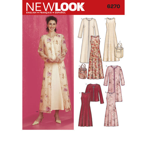 New Look Pattern 6270 Misses Dresses