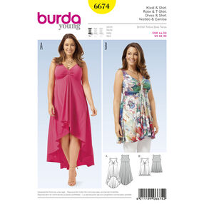 Burda Style Pattern 6674 Women's Shirt and Dress