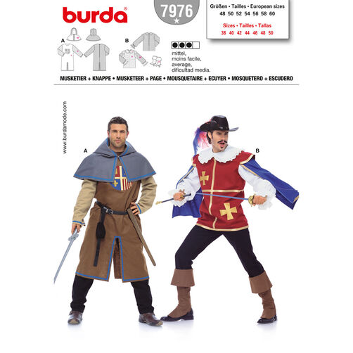 Burda Style Pattern 7976 Musketeer & Page