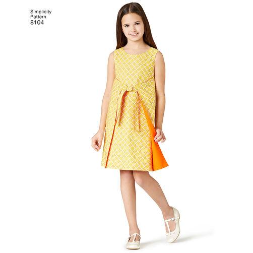 Pattern 8104 Child S And Girls Jiffy 174 Reversible Wrap Dress