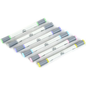 Pastel Craft Markers 6-Pack: Dual Tip_55-30060