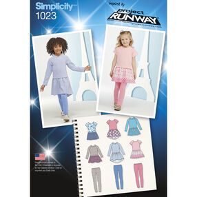 Simplicity Pattern 1023 Child's Dress & Leggings Project Runway Collection