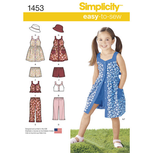 Child's Dress, Top, Pants or Shorts and Hat