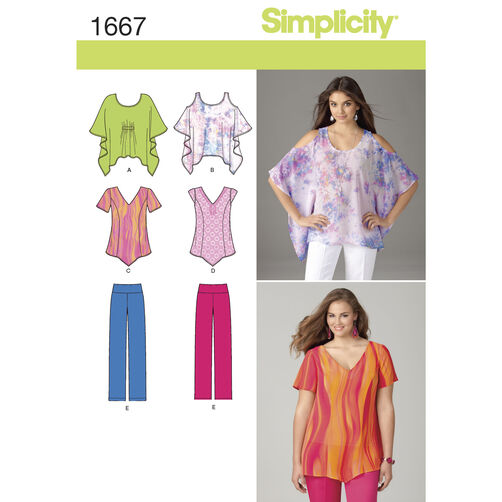 Simplicity Pattern 1667 Misses Separates in Sizes XXS to XXL