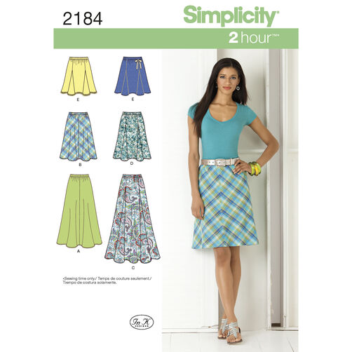 Simplicity Pattern 2184 Misses' Skirts